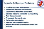 search rescue problem