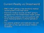 current reality vs dreamworld