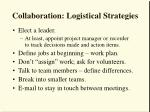 collaboration logistical strategies