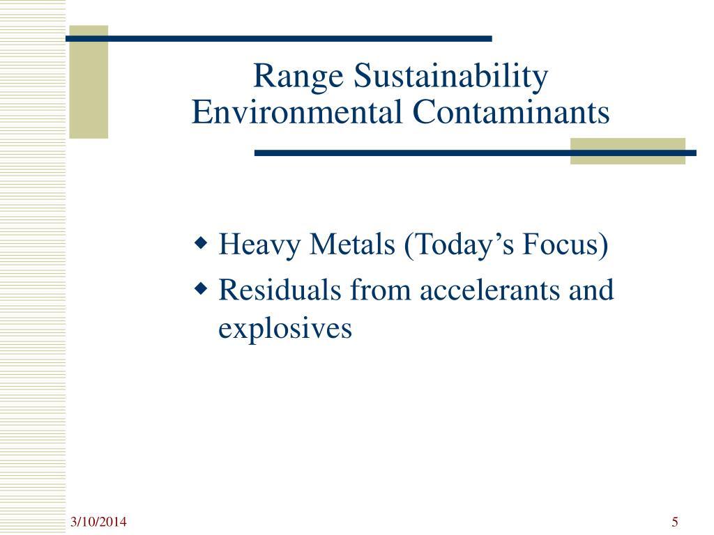 Range Sustainability