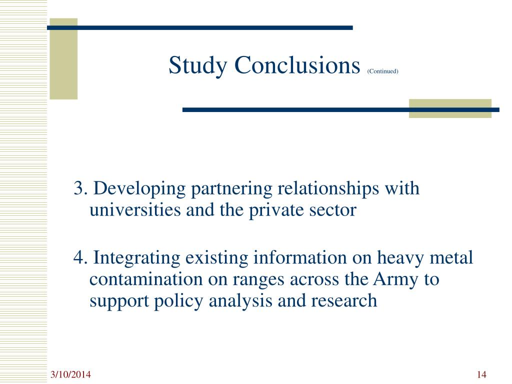 Study Conclusions