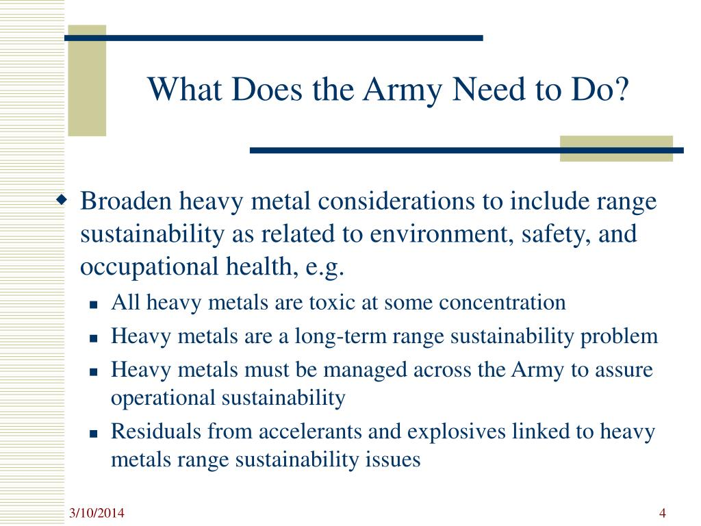 What Does the Army Need to Do?
