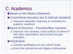 c academics