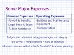 some major expenses