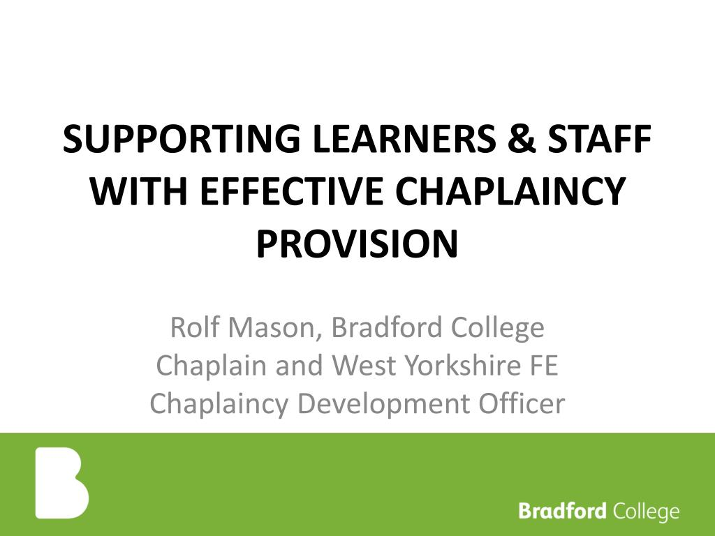 supporting learners staff with effective chaplaincy provision l.
