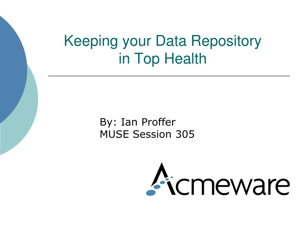 keeping your data repository in top health l.