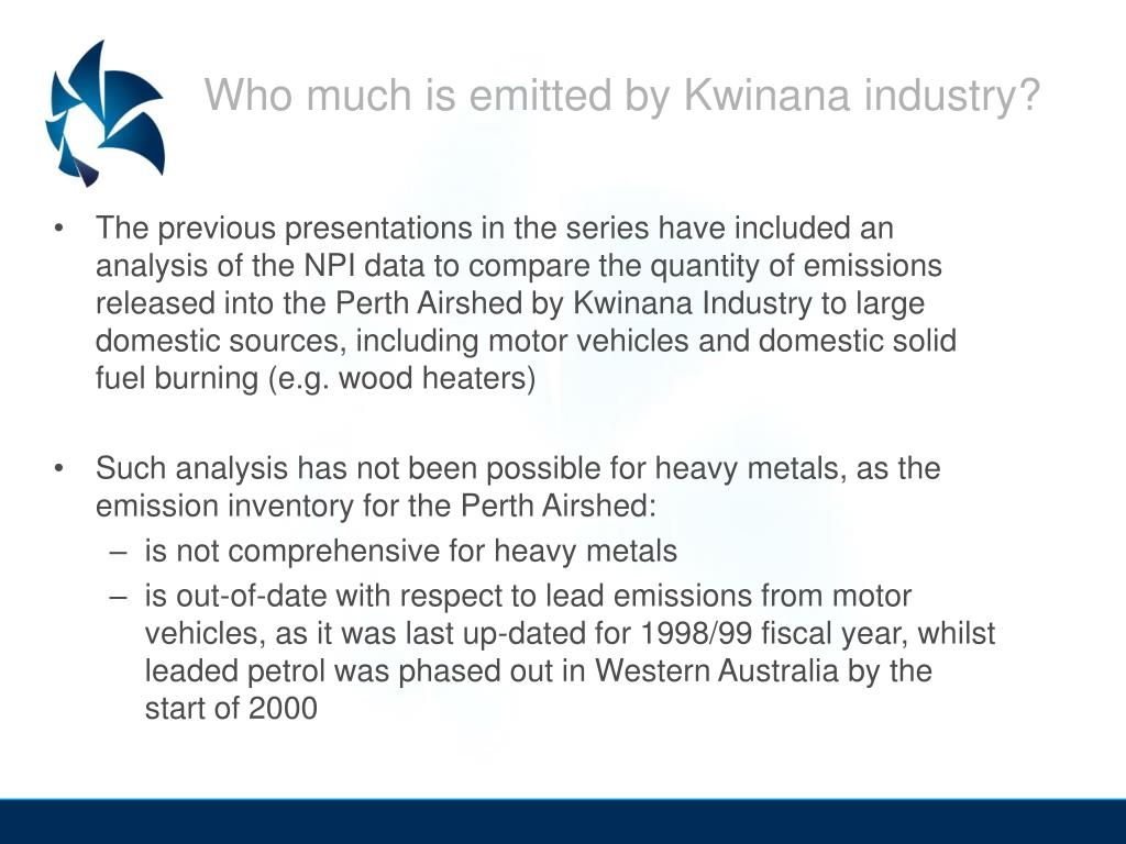 Who much is emitted by Kwinana industry?