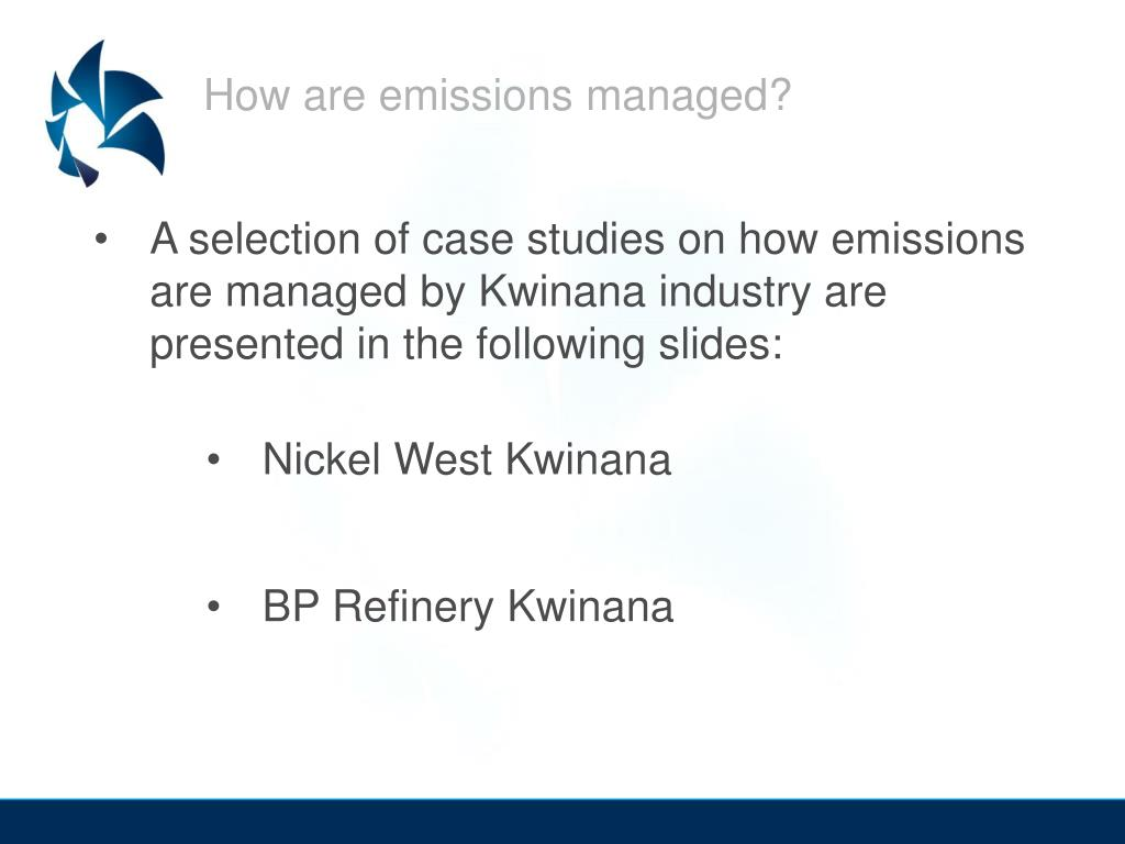 How are emissions managed?