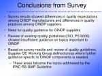 conclusions from survey