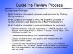guideline review process