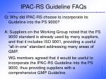 ipac rs guideline faqs