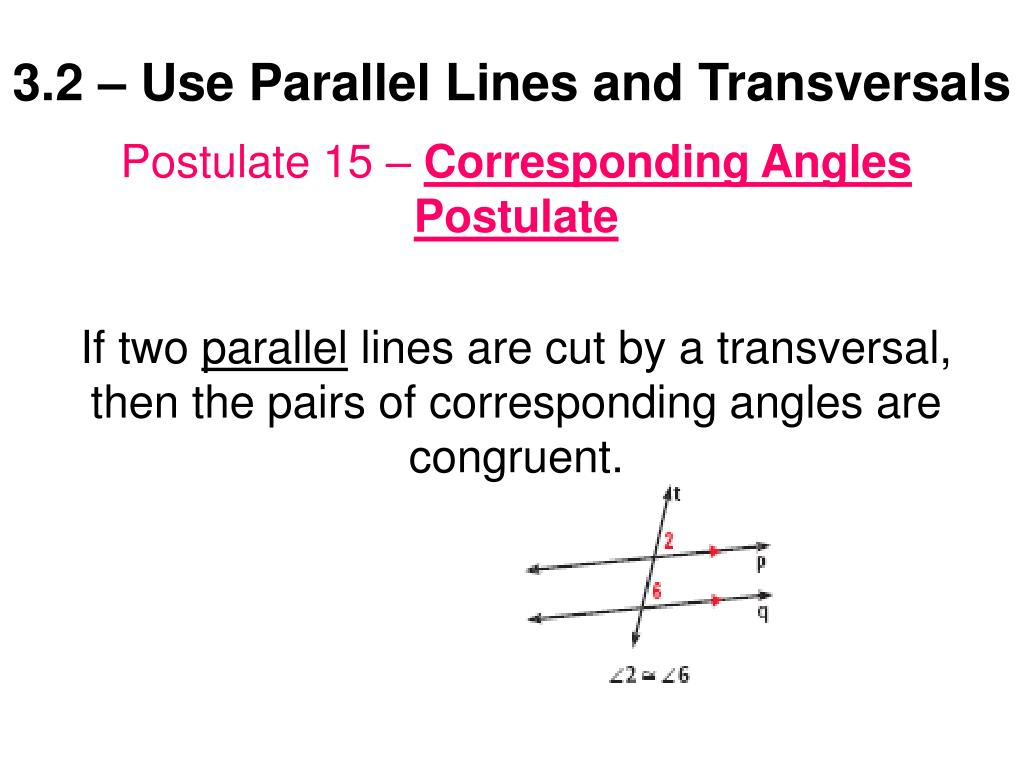3 2 use parallel lines and transversals l.