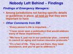 nobody left behind findings16