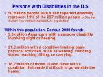 persons with disabilities in the u s