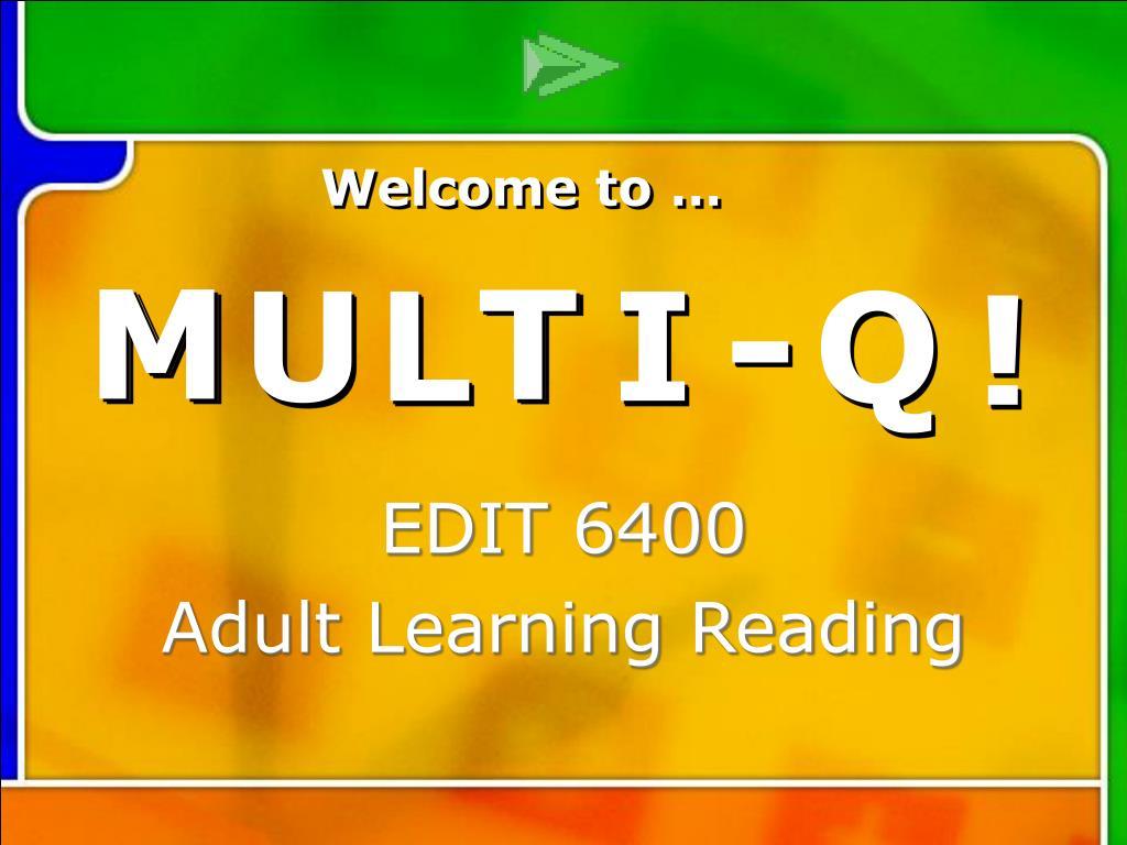 multi q introduction l.