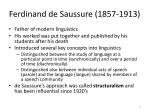 ferdinand de saussure 1857 1913
