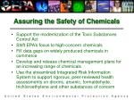 assuring the safety of chemicals