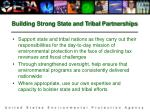 building strong state and tribal partnerships