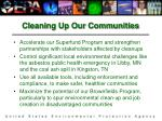 cleaning up our communities