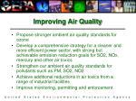 improving air quality