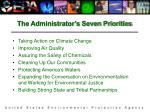 the administrator s seven priorities