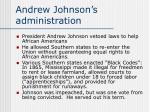 andrew johnson s administration