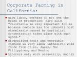 corporate farming in california