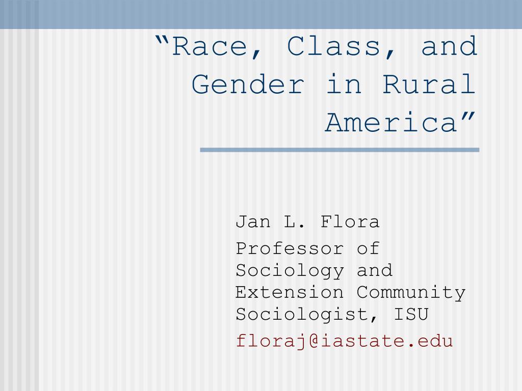 race class and gender in rural america l.