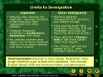 limits to immigration