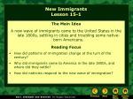 new immigrants lesson 15 1
