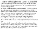 policy seeking models in one dimension