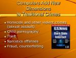 computers add new dimensions to traditional crimes