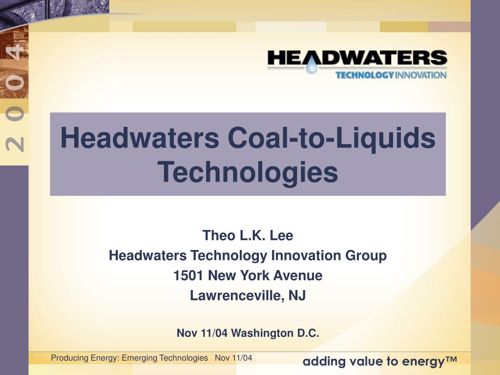 headwaters coal to liquids technologies l.