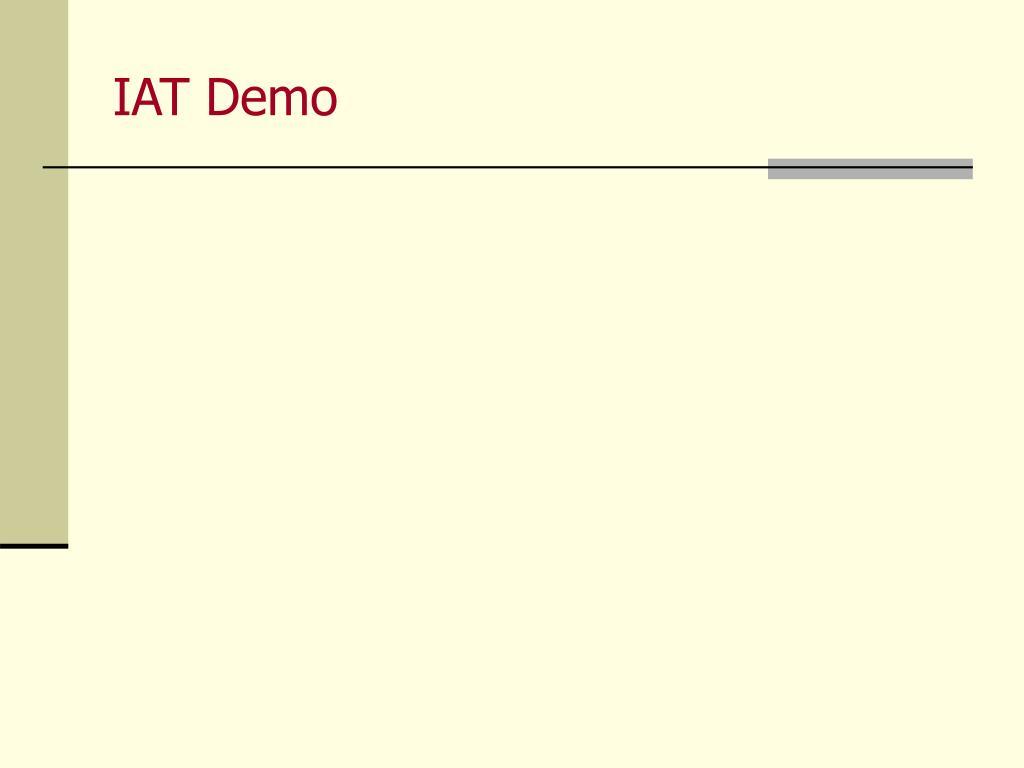 IAT Demo