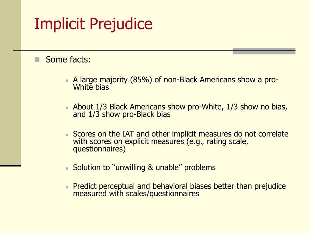 Implicit Prejudice