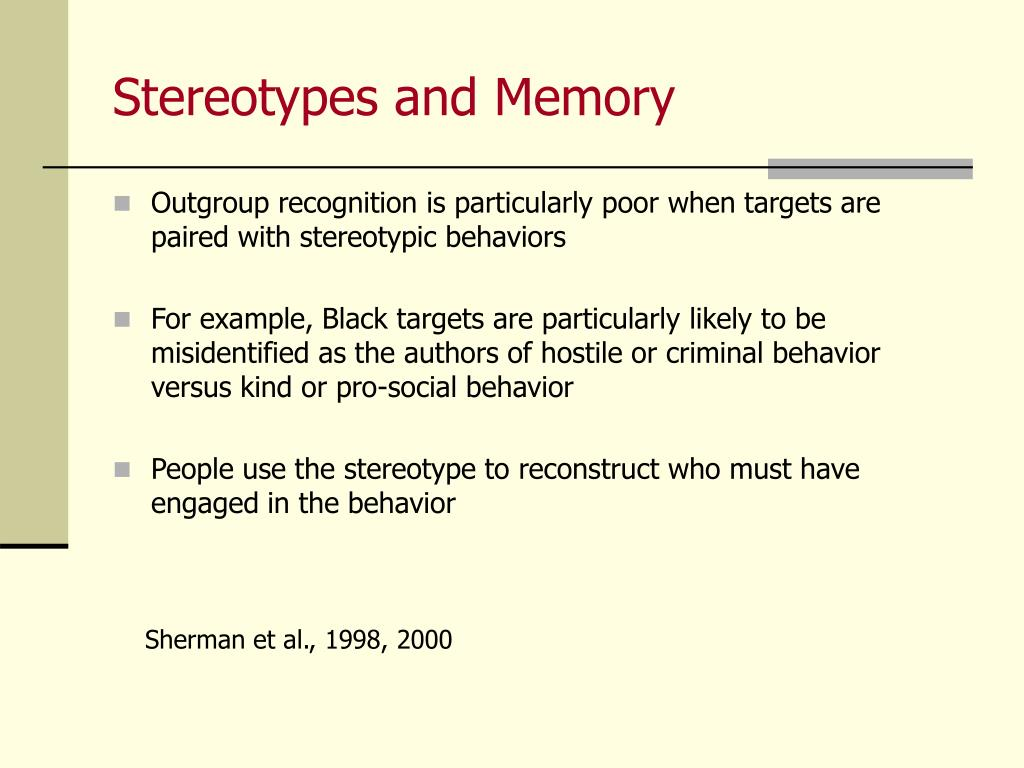 Stereotypes and Memory