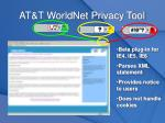 at t worldnet privacy tool
