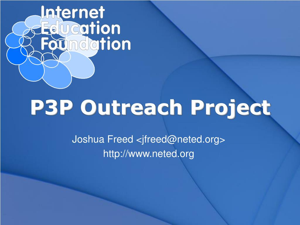 p3p outreach project l.