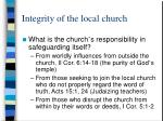 integrity of the local church