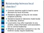 relationship between local churches