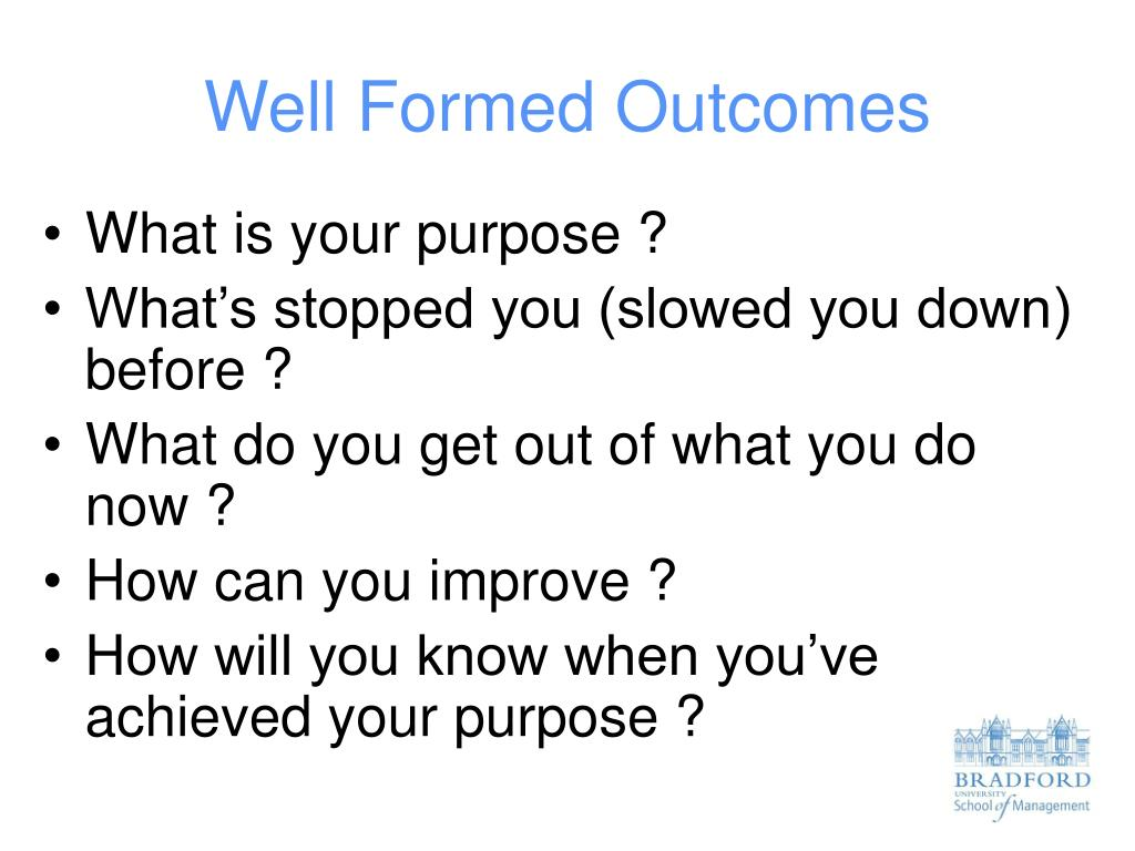 well formed outcomes l.
