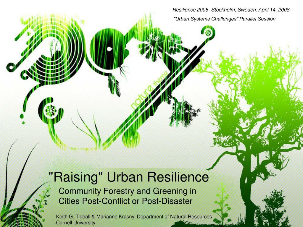 raising urban resilience l.