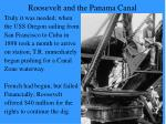 roosevelt and the panama canal