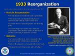 1933 reorganization