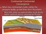 continental continental convergence