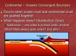 continental oceanic convergent boundary