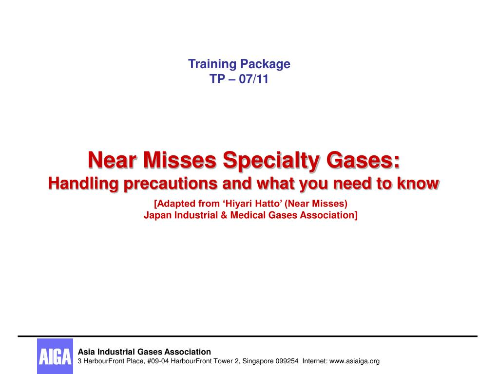 near misses specialty gases handling precautions and what you need to know l.