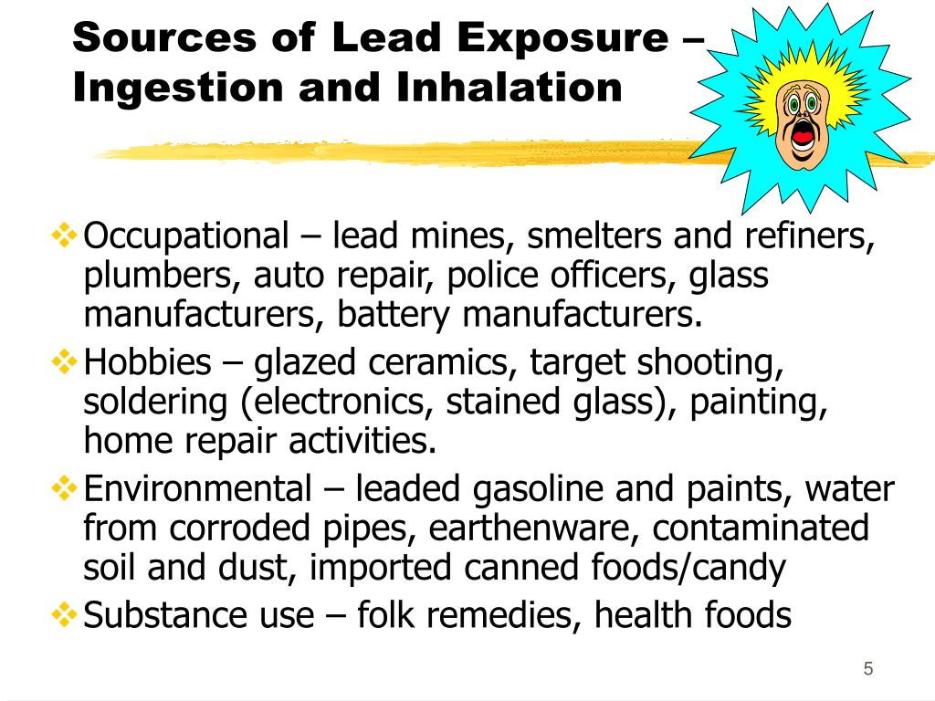 Sources of Lead Exposure –