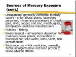 sources of mercury exposure cont