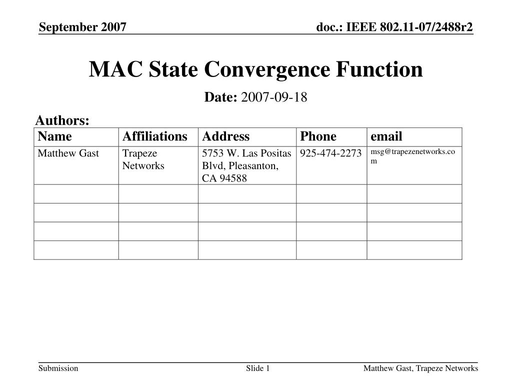 mac state convergence function l.
